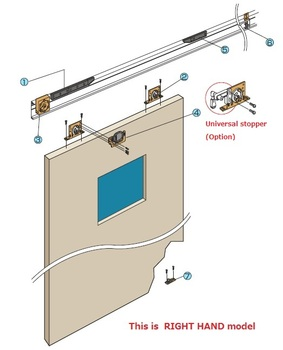 Automatic Hanging Sliding Door Closer With Closing Speed Adjustment Made In  Japan