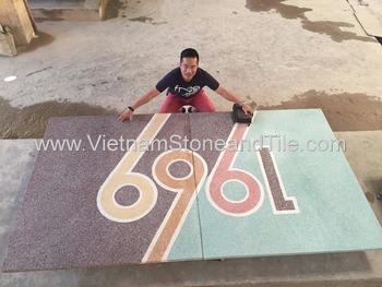 Finitura terrazzo vietnam encausto fatti a mano di cemento