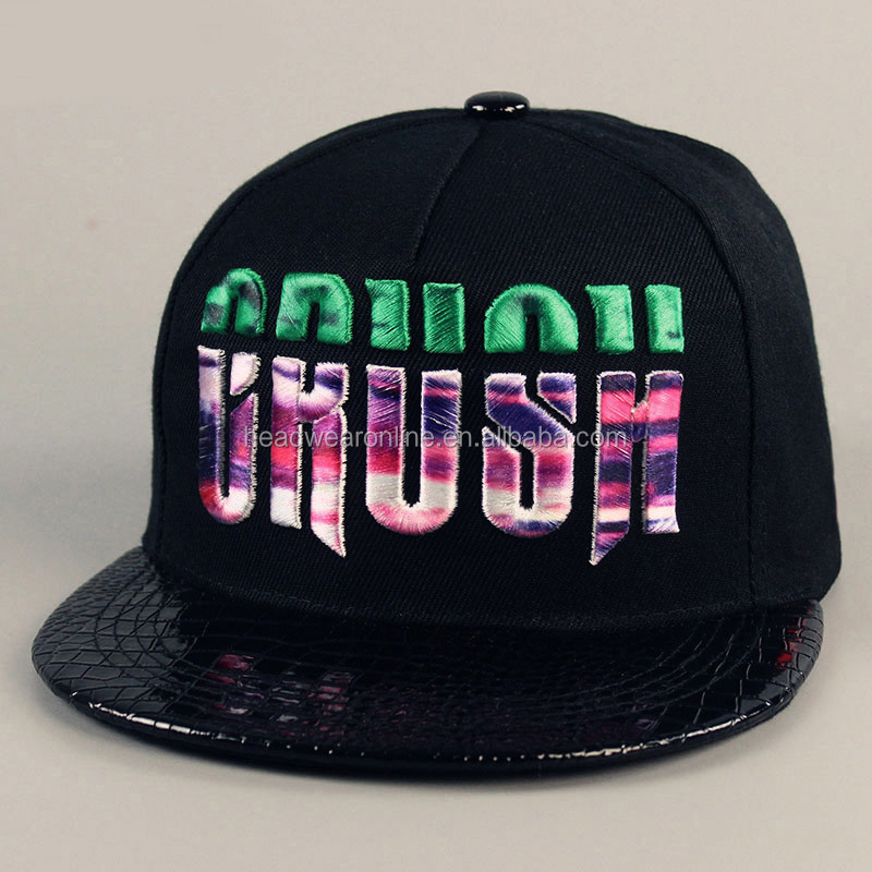 Fashion Design 3D Colorful Embroidery Snapback Caps With 100% Acrylic