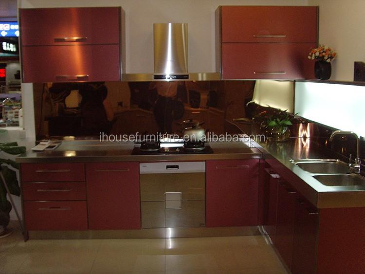 Calidad Superior India Aluminio Diseño Del Gabinete De Cocina/vidrio ...