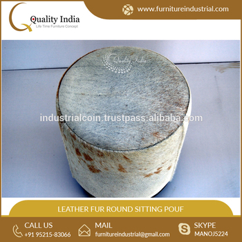 Amazing Light Brown And White Leather Fur Round Sitting Pouf Buy Moroccan Leather Pouf Leather Ottoman Pouf Ottomans And Pouf Product On Alibaba Com Pdpeps Interior Chair Design Pdpepsorg