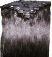 Full cuticle human remy hair clip in extensions double Weft good quality no shedding