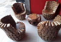 DUTANG TEAK ROOT LIVING SET
