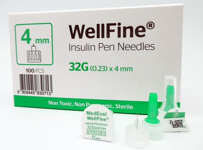 Wellfine Insulin Pen Needle 32g*4mm - Buy Pen Needle,Insulin,32g Needle  Product on Alibaba com