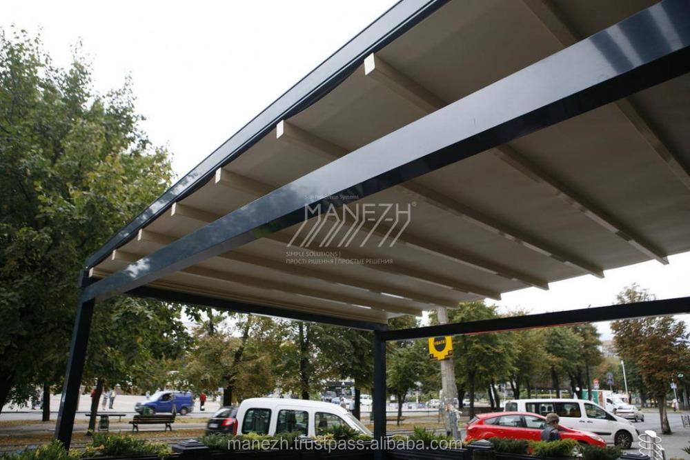 aluminium veranda pergola mit automatische dach b gen pavillons ger ste br cke produkt id. Black Bedroom Furniture Sets. Home Design Ideas