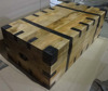 Vintage Industrial Trunk Box Wooden