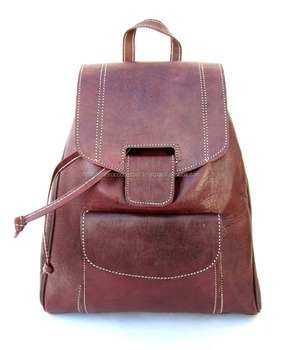 10d376df2cb5 Moroccan Handmade Genuine Leather Backpack - Buy Fashion Cute ...