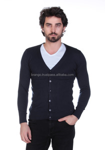 Men's Solid Colors Basic Cardigan