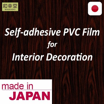 Easy to install pvc self adhesive film Wood pattern PVC film with self-adhesive backing made in Japan