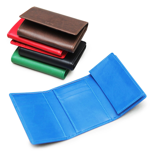 Hot selling PU leather card case Leather business 3-fold card holder wallet