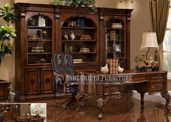 Mobili Ufficio Legno Massello : Classico ufficio in legno massello mobili sala studio set buy