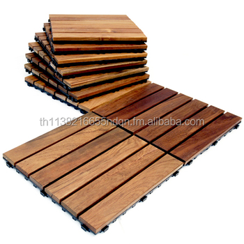 Teak Decking Clic Style Wood Deck Tiles