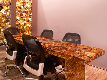 Tafel Versteend Hout : Natuurlijke edelsteen versteend hout tafel top top kwaliteit