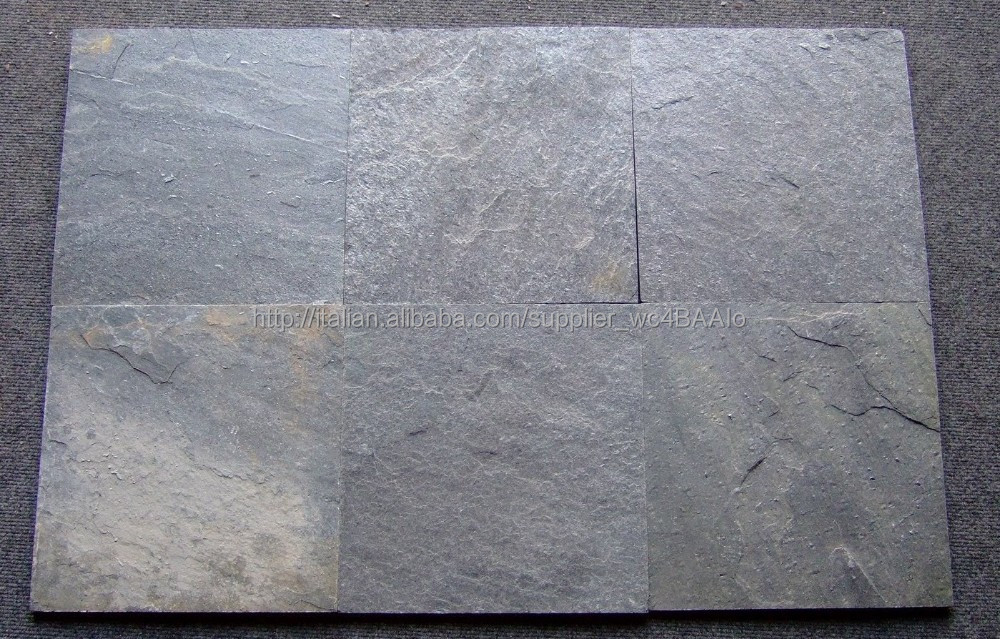 Quarzite indiana grigio argento piastrelle di pietra ardesia