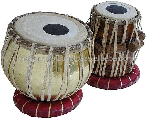 Professionelle 2,5 KG Messing Bajan Shesham Holz Dayan Musikinstrument India Indian Tabla Trommeln Set