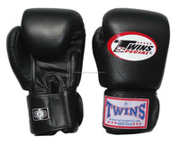Black TWINS Boxing gloves / Professional Fight Gloves by Boxing Crafts Corporation
