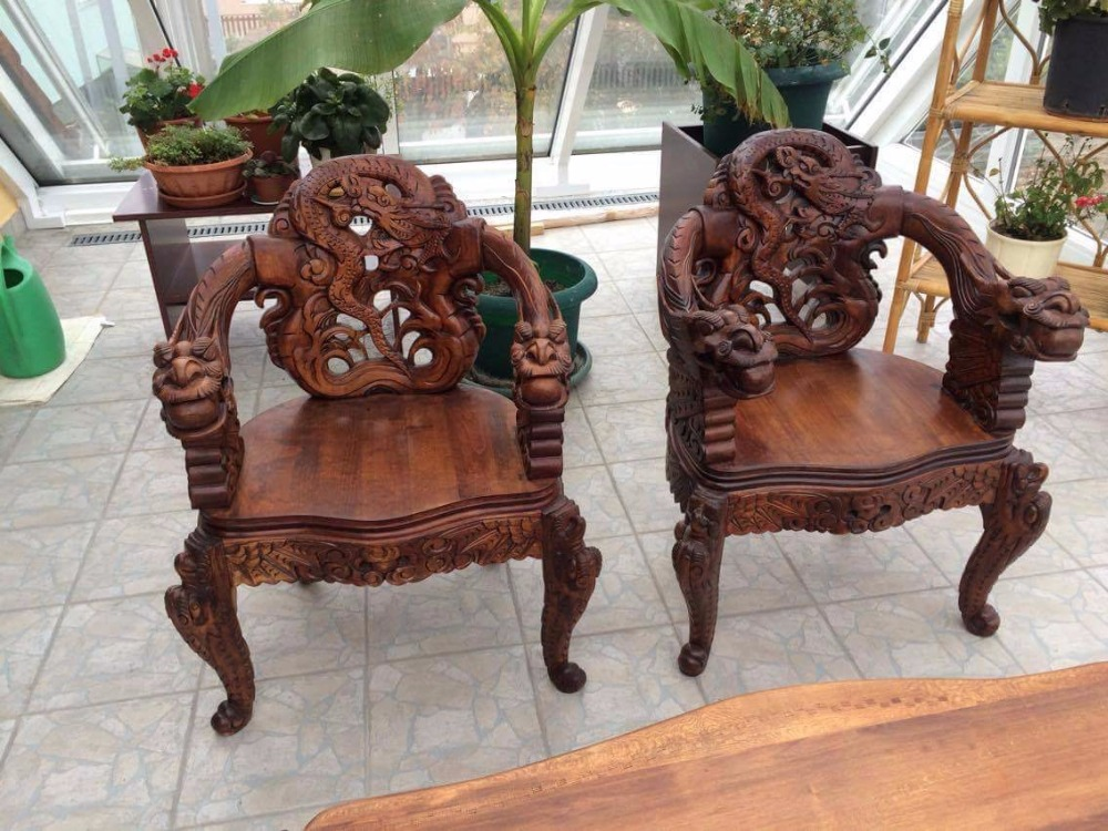 Hand-carved wooden chinese furniture