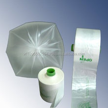 star seal HDPE trash/garbage bags on roll with different type