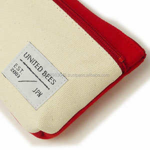 Japanese canvas cloth sail HANPU / HAMPU pencil case bag made in Japan for wholesale
