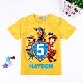 2 7T Boy clothes T Shirts Cartoon Paw Dog Patrol kids girls clothes cotton t