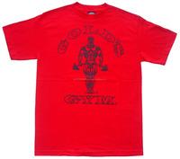 100% Cotton Basic Spring New Running Training Sports Gym Short Sleeve Red T Shirt