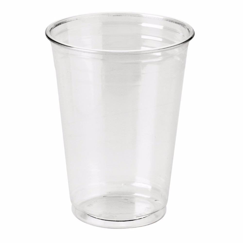wholelsale disposable pet plastic cup with lids 12oz plastic cup