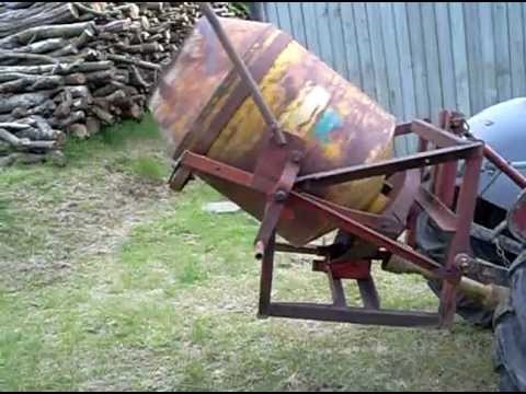 Teagle Tipmix tractor mounted concrete mixer
