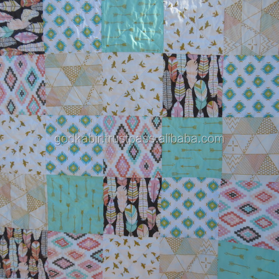 Unique patchwork quilt king size handmade new design pattern patchwork quilt