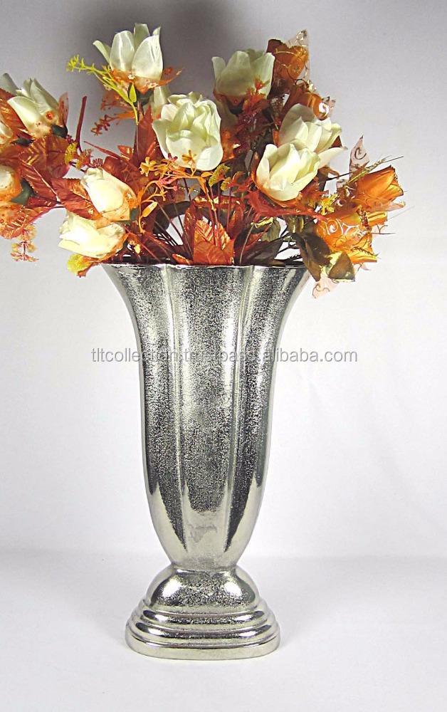 Designer Glass Aluminium Flower Vases Used For Wedding And Birthday