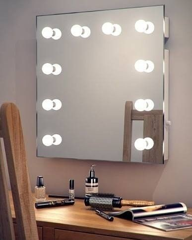DEBO LIVES bluetooth speaker makeup mirror with lights