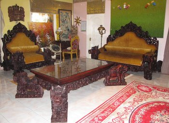 Unique! Throne Like Chair And Sofa Set U0026quot;Barong Ket ...