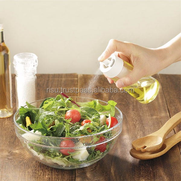 convenient glass bottle for oil or vinegar seasoning cruet dispenser with Japan design