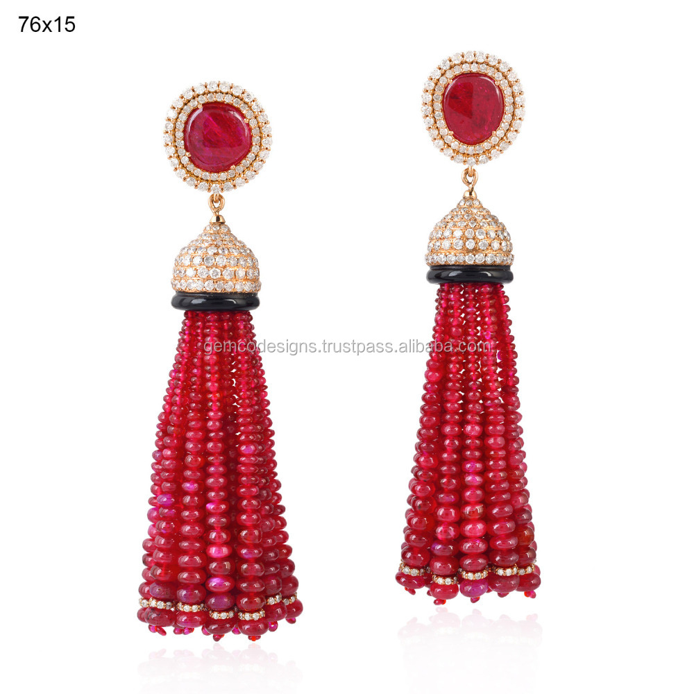 Long Ruby Earrings, Long Ruby Earrings Suppliers and Manufacturers ...