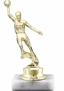 Basketball Trophy- Marble Stone Base and Figurine 17 cm