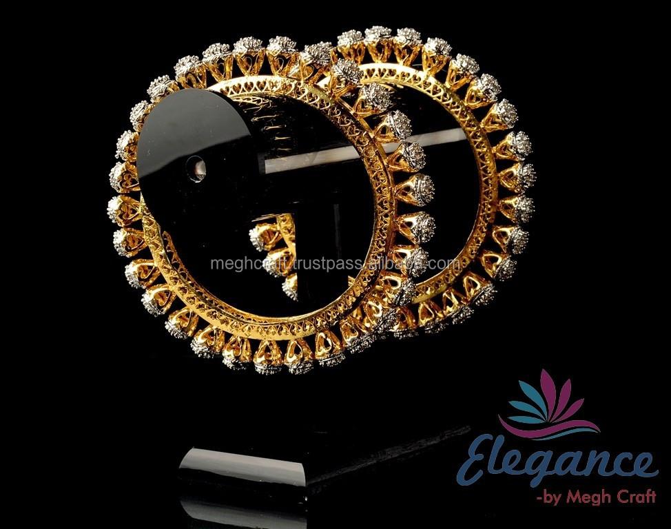 American Diamond Bangles - Diamond Studded Bridal Bangles-online ...