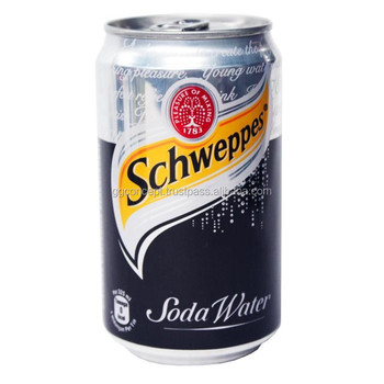 Schweppes Soda Water 330ml Can/ Carbonated Drinks/ Soft ...