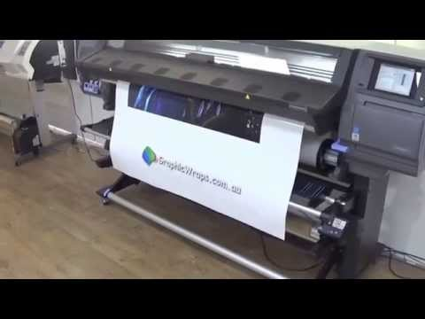 "HP 360 Latex Printer - Quick Demo of our new printer 64"" - Wide Format Printer"