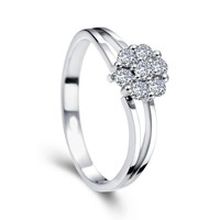 Simply Beautiful Real Diamond light weight Engagement Ring at factory price
