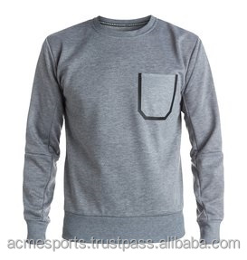 custom sweatshirts with pocket - Cotton short sleeve plain slim fit plain sweatshirt men