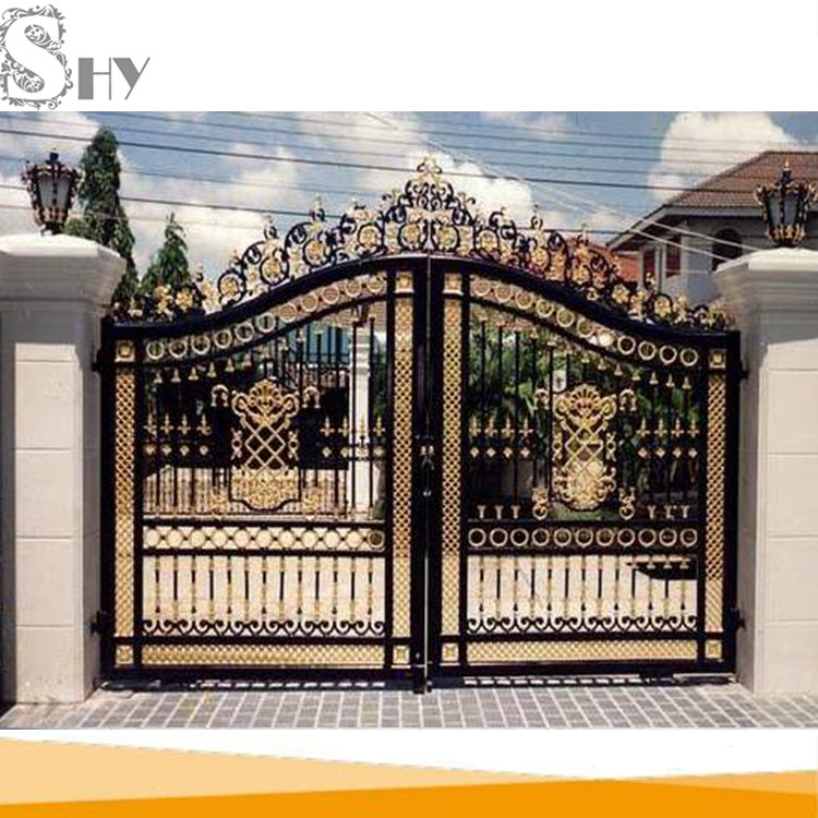 Latest Cheap Indian House Wrought Iron Steel Main Gate