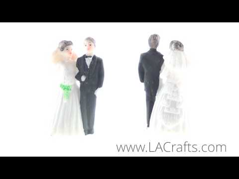 "2.5"" Poly Resin Wedding Couple Figurines From LACrafts.com"