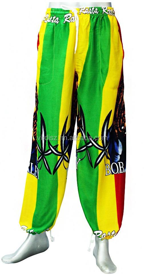 Rayón Cintura Verano Pantalones Rasta Elástico Mujeres Impresión Por Boho Mayor Harem Tailandés Al Cordón NwPkX8n0O