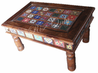 indian dubai style beautiful colored tile fitted coffee table islamic style country furniture