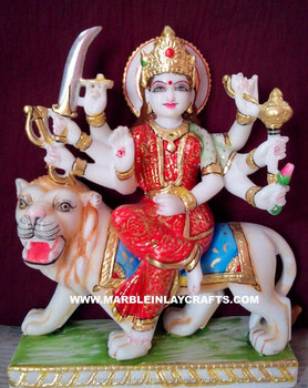 39baa2ed86a Marble Handmade Durga Maa Goddess Statue - Buy Stone Durga ...