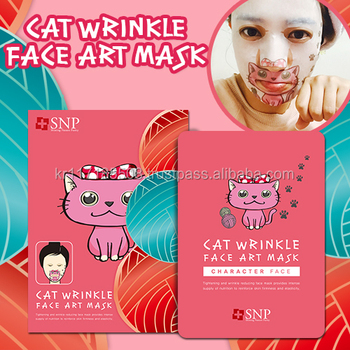 SNP Cat Wrinkle Face Art Mask_10sheets