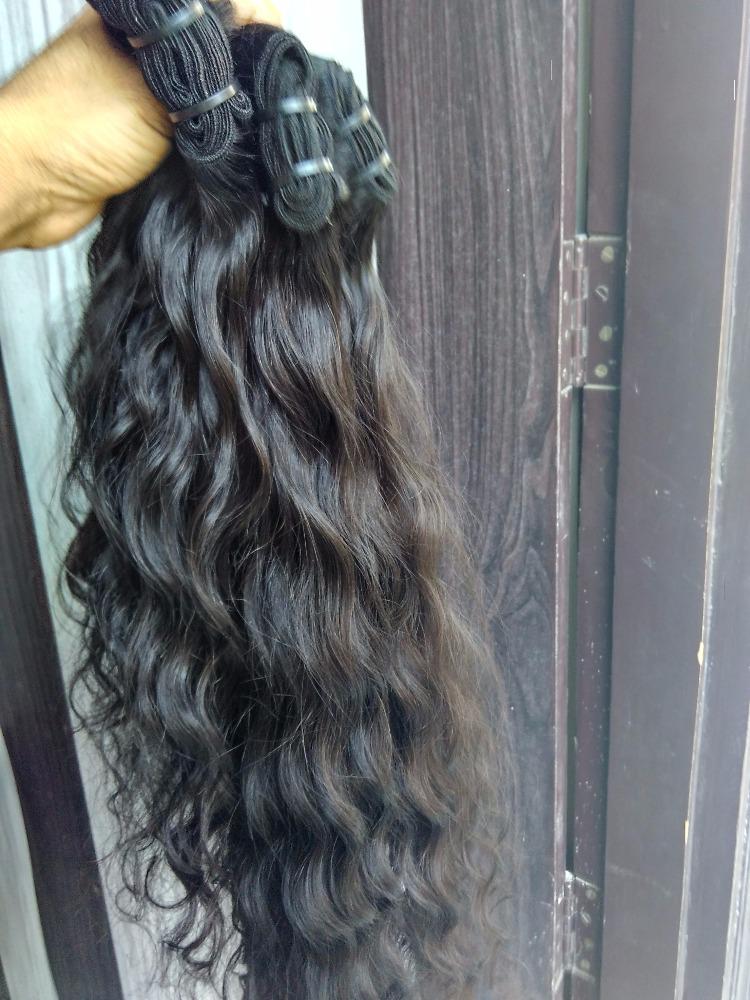 Natural Raw Virgin Temple Indian Virgin Hair Extensions Kasana
