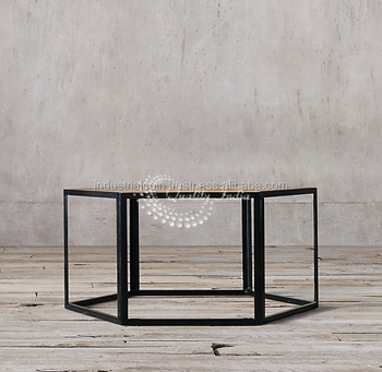 Industrial Style Hexagon Shape Coffee Table Buy Wooden Coffee