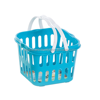Small Plastic Storage Basket With Handle E 54