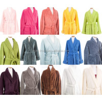Hooded Bathrobe , Women Collar Hotel Knee Length Bathrobe , Hotel Heavy Terry Cloth Bathrobe 100% Cotton
