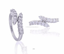 18k white gold diamond ring women jewellery
